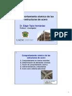 Curso 2. Dr. Edgar Tapia. 2. Comportamiento Sísmico