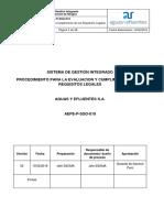 AEPE-P-SSO-019 Procedimiento para la Evaluación y Cumplimiento de los Requisitos Legales.docx