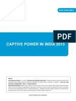 Report Captive Power in India June 2013