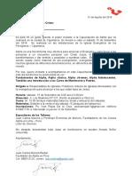 Carte de Invitacion Cajamarca