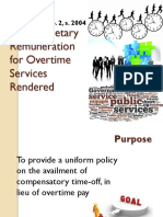 Compensatory Overtime Credit