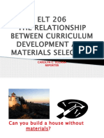 The relationship between curriculum development and materials selection