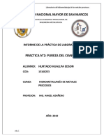 Practica n2 Pureza Cianuro