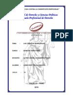 Los Tributos Municipales - Derecho Tributario