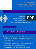 Ch13 Responsibility Accounting and Transfer Pricing in Decentralized Organizatio