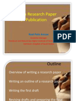 Writing a Research Paper for Publication