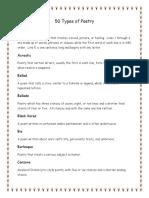 Types of Poem