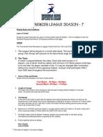 Rules - Kbsc Premier League Season 7