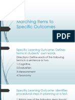 Matching Items to Specific Outcomes