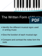 The Written Form of Music