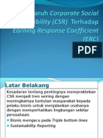 Pengaruh Corporate Social Responsibility Terhadap Earning Response Coefficient