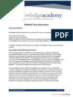 PRINCE2 Key Information