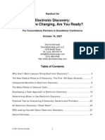 Electronic Discovery Handout for Concordance Partners Conference 2007 - Kennedy