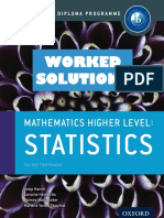 Mathematics HL - WORKED SOLUTIONS - Statistics - Course Companion - Oxford 2014