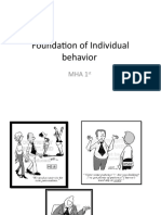 Foundation of Inividual Behaviuor (1)