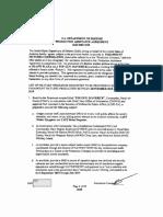 Pentagon Production Assistance Agreement for Top Gun