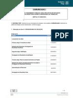 Edital CR 2.0050 Comunicado