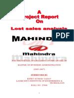 67409311 Mahindra Lost Sales Analysis (1)