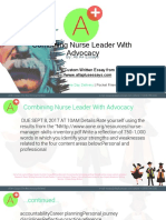 Combining Nurse Leader With Advocacy