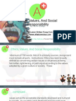 Ethics Values and Social Responsibility