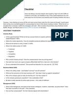 Hedge Fund Analyst Checklist