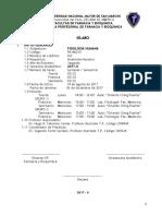 Sílabo Fisiologia Humana
