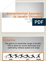Biomechanical Approach to Javelin Throwing