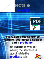 Subject and Predicate Notes