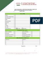 Formulir Pengajuan Beasiswa Umum Dan Beasiswa Prestasi