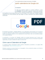 Compartir calendario Gmail
