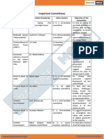 Important Committees PDF