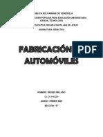 Fabricacion de Automoviles