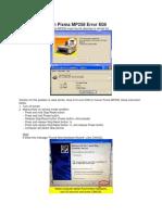 How to Fix Canon Pixma MP258 Error E08