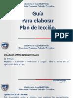 Guía Para Preparar Un Plan de Leccion 2019