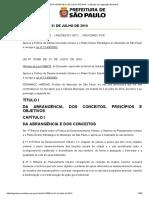 Plano Diretor da cidade de São Paulo