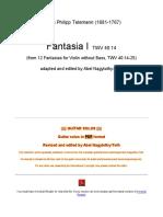 Telemann Fantasia 1