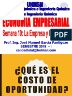 2019 - Ee - Semana 10 - La Empresa y Los Costos - Parte II
