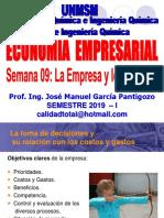 2019 - Ee - Semana 09 - La Empresa y Los Costos - Parte i