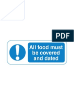 Signs Mustdo Food Covered