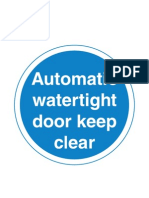 Signs Mustdo Watertight Door
