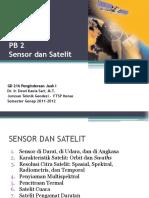 Gd 216 Penginderaan Jauh i - 2 Sensor Dan Satelit