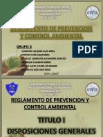 Reglamento de Prevencion y Control Ambiental