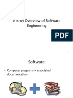 A Brief Overview of Software Engineering