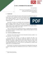01. La teoría de la prohibición de regreso (DPG-09-11-18)
