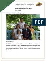 Informe Misionero Neiva - Septiembre de 2010