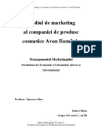 Mediul de Marketing Al Companiei de Produse Cosmetice Avon