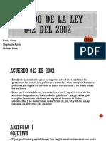 Acuerdo de La Ley 042 Del 2002 Gd