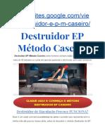 Destruidor EP Método Caseiro 100% Natural- Ejaculação Precoce Já Era!!