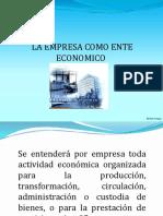 La Empresa Como Ente Económico