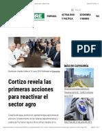 Cortizo Revela Las Primeras Acciones Para Reactivar El Sector Agro - Metro Libre